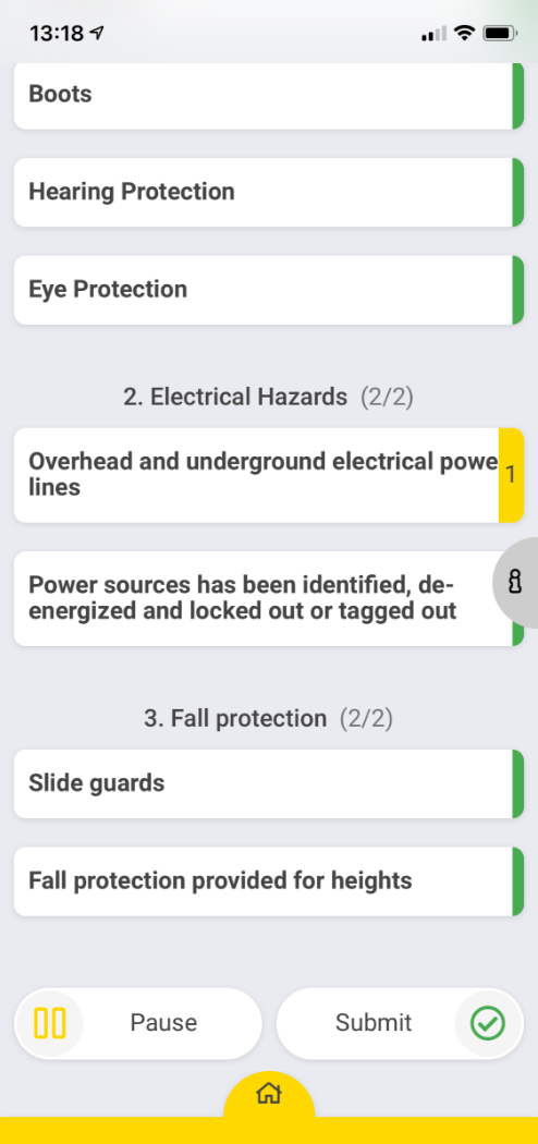 Screenshot of Audits & Inspections with CheckProof App