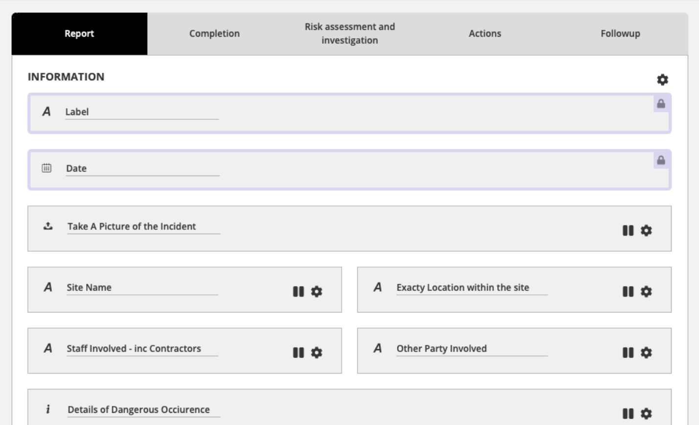 Templates and workflows for incident management