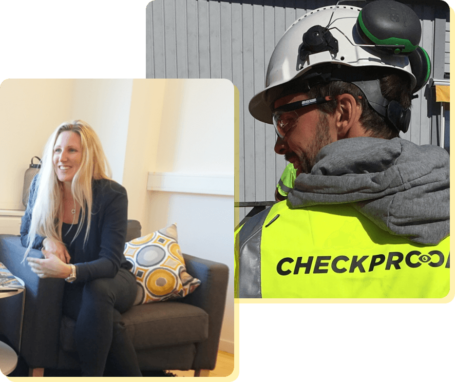 Happy CheckProof employees in action